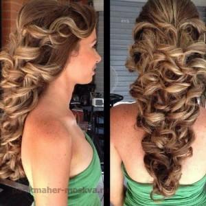 свадебна прическа на длинные волосы
